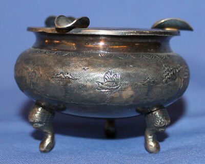 Vintage Silver Plated Footed Ashtray