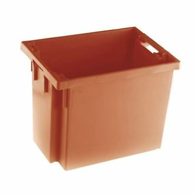 Solid Slide Stack/Nesting Container 600X400X400mm Red 382969 [SBY24795]