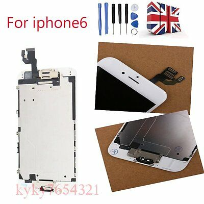 For iPhone6 4.7'' white LCD Touch Screen Digitizer Assembly+Camera & Home Button