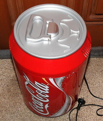 Coca Cola Red Fridge Coke Can Beverage Cooler 8 Can Drinks Chiller Collectible