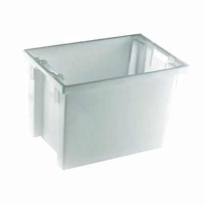 Solid Slide Stack/Nesting Container 600X400X400mm White  [SBY24796]