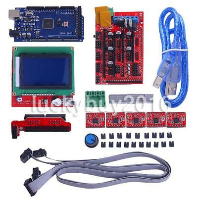 3D Printer Kit Ramps 1.4 + Mega 2560 +12864 LCD Controller + 5x A4988 DE EU DHL