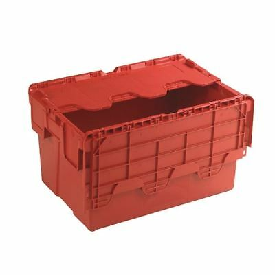 Attached Lid Container 54L Red 375816, 400x308x600mm [SBY21377]