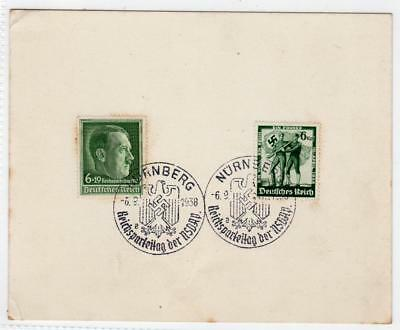 GERMANY: 1938 Commemorative stamps on card with special postmark (C35586)