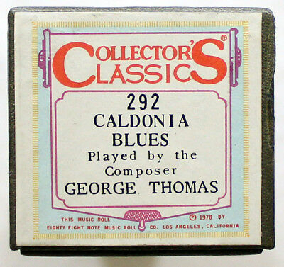"GEORGE THOMAS ""Caldonia Blues"" COLLECTORS CLASSICS 292 [PIANO ROLL]"
