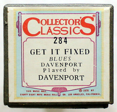 "CHAS. DAVENPORT ""Get It Fixed"" COLLECTORS CLASSICS 284 [PIANO ROLL]"