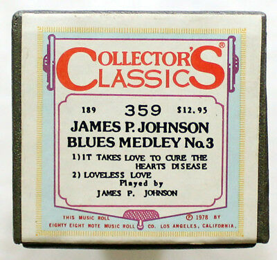 "JAMES P. JOHNSON ""Blues Medley No. 3"" COLLECTORS CLASSICS 359 [PIANO ROLL]"
