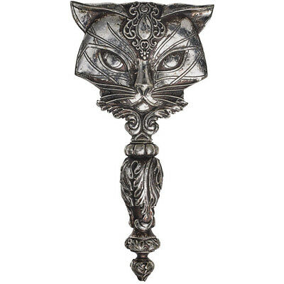 Alchemy of England Sacred Cat Hand Mirror Silver Cat Lover Goth