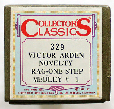 """VICTOR ARDEN Novelty Rag Medley No. 1"" COLLECTORS CLASSICS 329 [PIANO ROLL]"