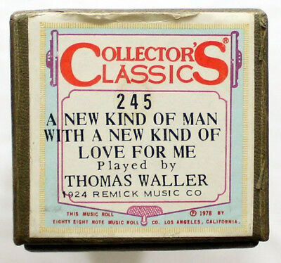 "THOMAS WALLER ""A New Kind Of Man"" COLLECTORS CLASSICS 245 [PIANO ROLL]"