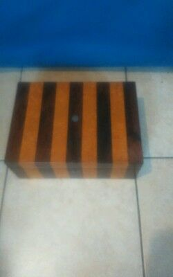 Victorian Rosewood/Burr-Maple Striped Casket/Box C/W Working Lock and Key