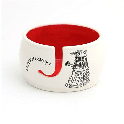 Doctor Who Yarn Knitting Bowl - Exterminknit