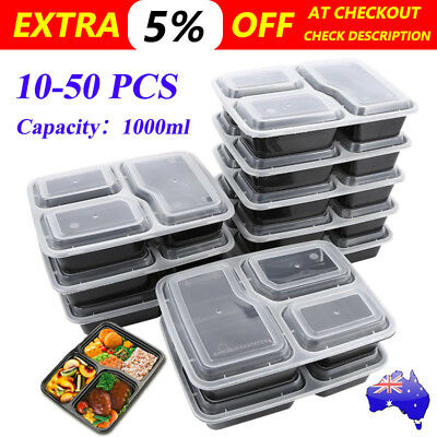 10-50 X Meal Prep Plastic Food Storage Containers Freezer Microwavable Lunch Box