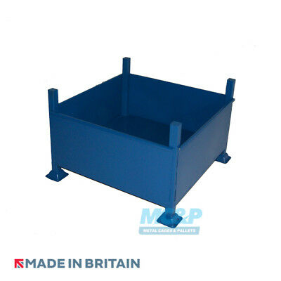 Metal/Steel Stillage (Pallet) with Solid Sides - Made in the UK