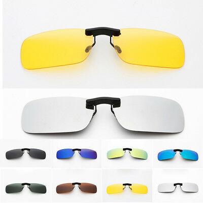 Glasses Polarized Clip On Sunglasses Driving Day Night Vision Lens Unisex