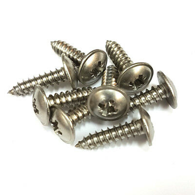 Pozi Flanged Self-Tapping Screw A2 Stainless Steel Wood PZ Recessed No.6 8 10 12