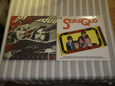 """STATUS QUO: Live/ Pictures Of Matchstick Men, LOT WITH 1 LP + 1x 2LP/ 12"""" :-)"""