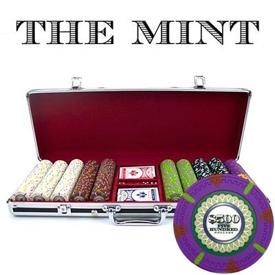 Claysmith Gaming 500-Count 'The Mint' Poker Chip Set in Aluminum Case, 13.5gm,
