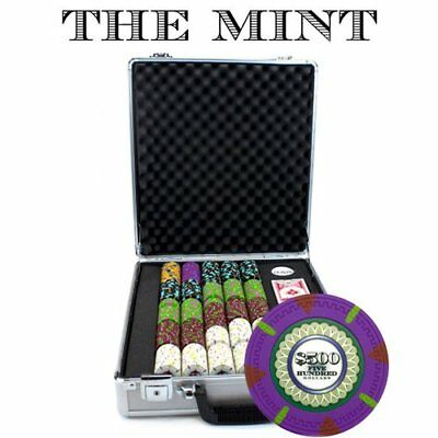 Claysmith Gaming 500-Count 'The Mint' Poker Chip Set in Claysmith Aluminum Case,