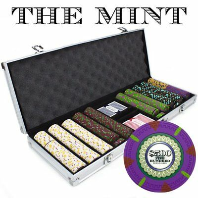 Claysmith Gaming 1000-Count 'The Mint' Poker Chip Set in Rolling Aluminum Case,