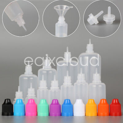 Wholesale 3-120ml Empty LDPE Plastic Childproof Cap Bottles Eye Liquid Dropper