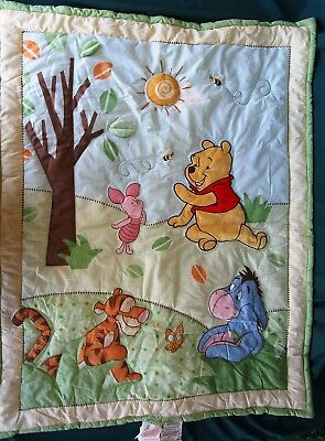 Disney Winnie The Pooh Crib Comforter - Crown Crafts - Bees & Butterfly