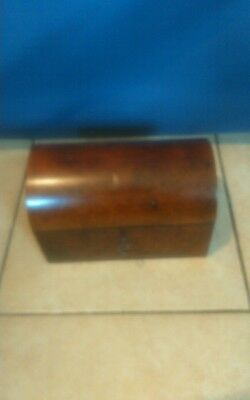 Vintage Dome Topped Wooden Casket C/W Working Lock And Key