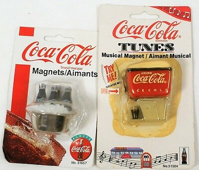 Vintage Coca Cola Collectible Magnets 1997-1998