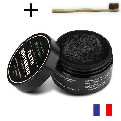 Teeth whitening- Blanchiment dents charbon végétal actif naturel + BROSSE 30 g