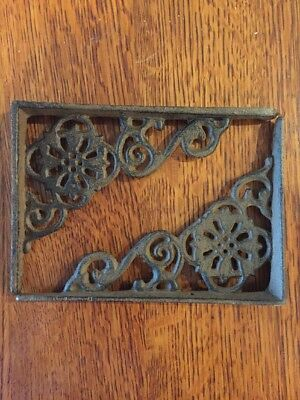 2 Farmhouse Flower Corbels Shelf Brace Shutter Shelf Bracket Cast Iron Shabby