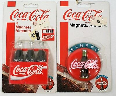 Pair of Vintage Coca Cola Magnets