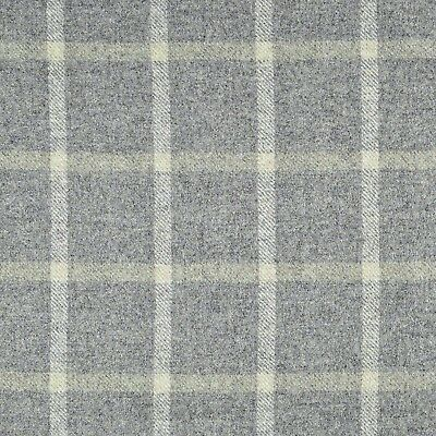 Abraham Moon Fabric 100%wool Check Reflection / Hessian (Grey) £24.99 Per Metre.