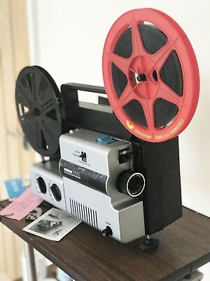 CHINON 2000GL Variable speed SUPER 8 STD 8 Cine Film dual format Cine Film Proje