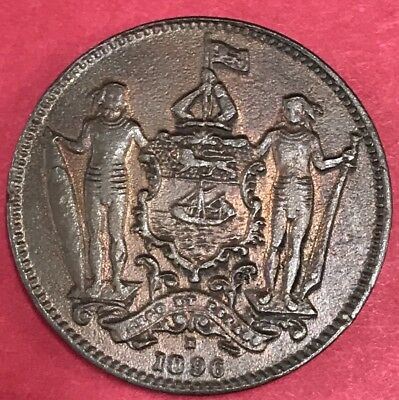 British North Borneo 1896-H Cent Nice Coin