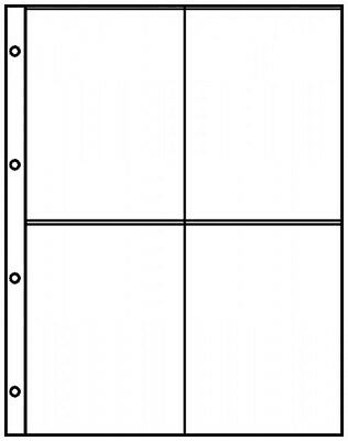 Lindner 8844 Pocket pages A4 crystal clear with 4 pockets (109 x 150 mm)
