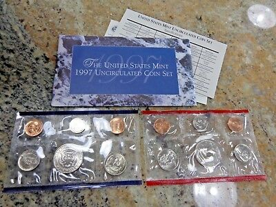1997 US Mint Uncirculated Coin Set P and D