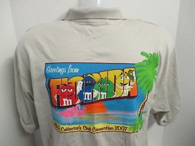 M&M's Polo Shirt~Greeting from Florida~M&M Collec. Club Conv.~2007~NWOT~ Size:XL