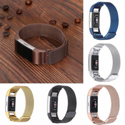 For Fitbit Charge 2 Replacement Magnetic Loop Strap Stainless Steel Wrist Band A
