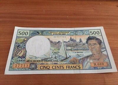500 Cinq Cents Francs French Polynesian Foreign Currency Banknote