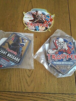 New Trooper Light Brigade And Two Other Trooper Beer Pump Clip From Robinsons