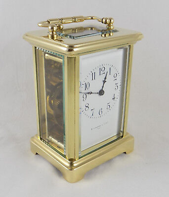 Antique French Couaillet Carriage Clock - Elkington & Co. - Cleaned And Serviced