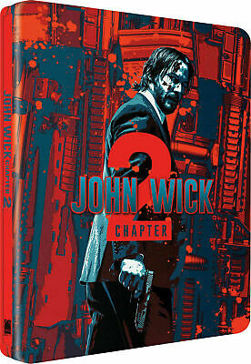 John Wick Chapter 2 - Limited Edition Steelbook [Blu-ray + DVD] New & Sealed!!