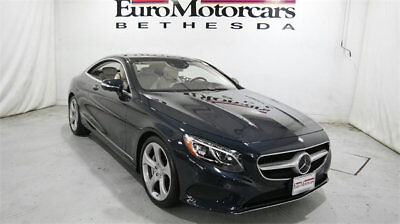 Mercedes-Benz S-Class 2dr Coupe S 550 4MATIC mercedes benz s coupe s550 4matic awd 15 16 used blue navigation white certified