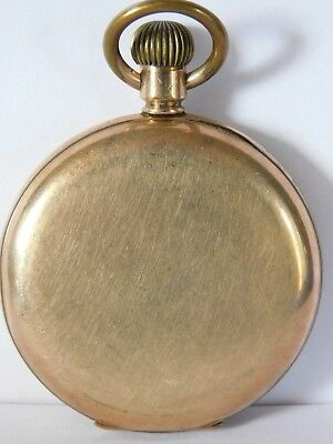 Antique Gold Plated Full Hunter Pocket Watch