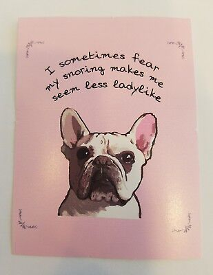 "3"" by 4"" French Bulldog FRENCHIE STICKER in pink"