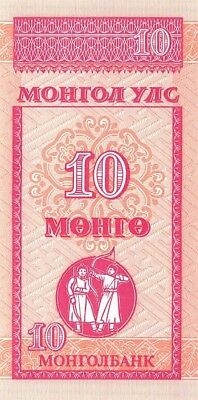 Mongolia 10 Mongo ND 1993 P.49 Uncirculated Unc
