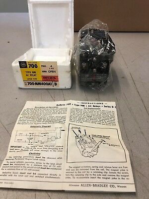 ALLEN-BRADLEY 700-NM400A1 AC Relay 110/120V Coil 4P - NEW IN BOX