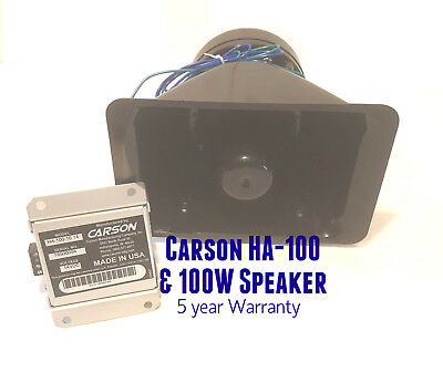 CARSON  HA-100 In Cab Studder Horn Amp - Electronic Air Horn Airhorn w/speaker