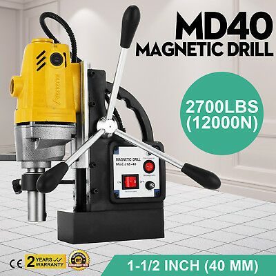 MD40 Electric Magnetic Base Drill Press 40mm Switchable Rack 1100W SPECIAL BUY