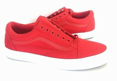 69bf343fba9 NEW Vans Old Skool Waffle Racing Red White Mens Skate Shoes Sneakers Size  11.5